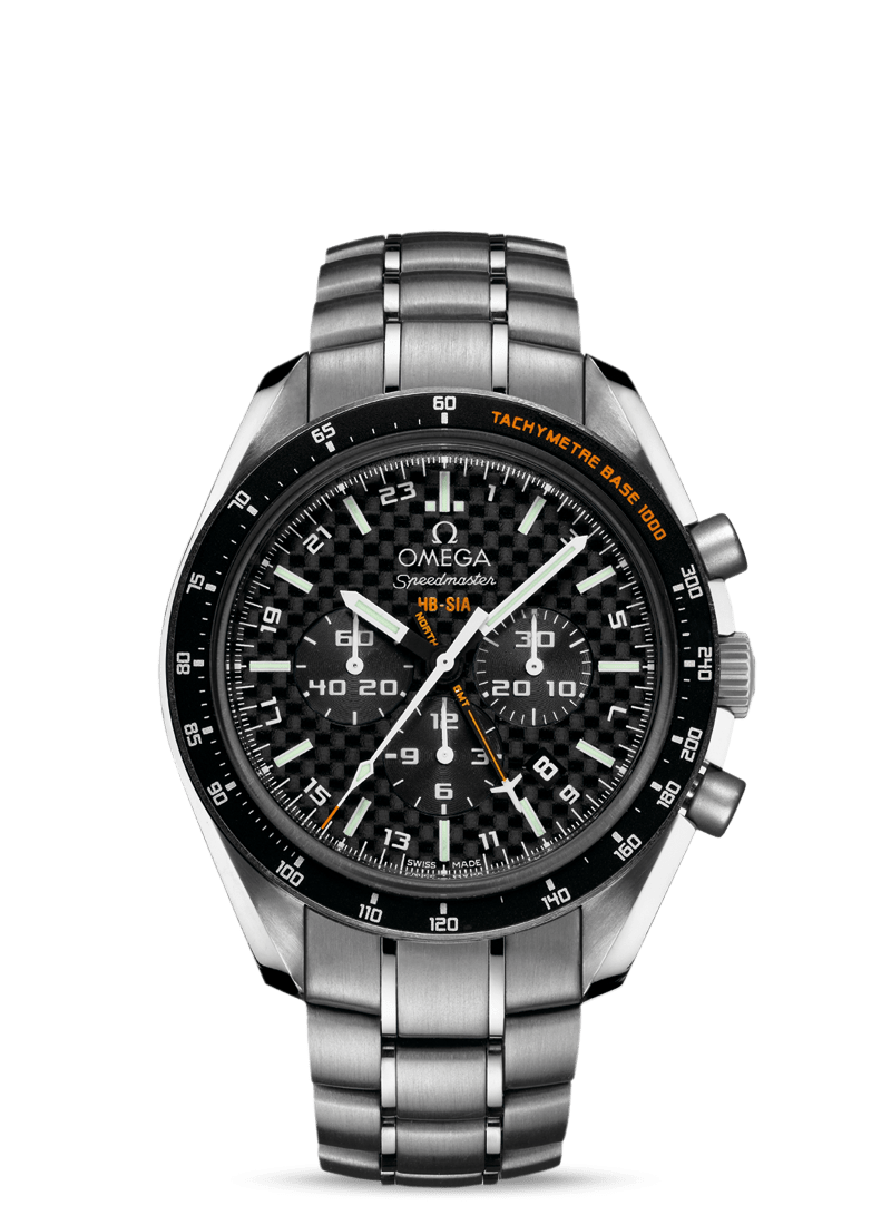 Speedmaster HB-SIA腕表 44.25毫米同轴GMT 编号版计时表 - SKU码 321.90.44.52.01.001 Watch presentation