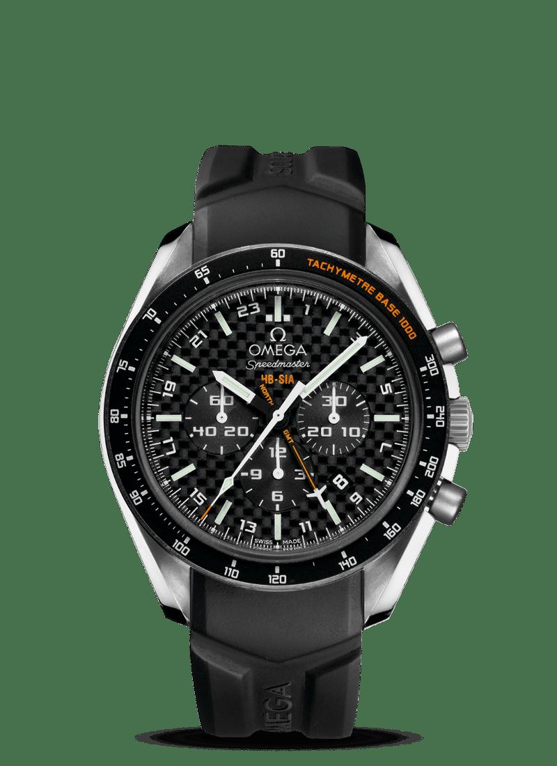 Speedmaster HB-SIA腕表 44.25毫米同轴GMT 编号版计时表 - SKU码 321.92.44.52.01.001 Watch presentation