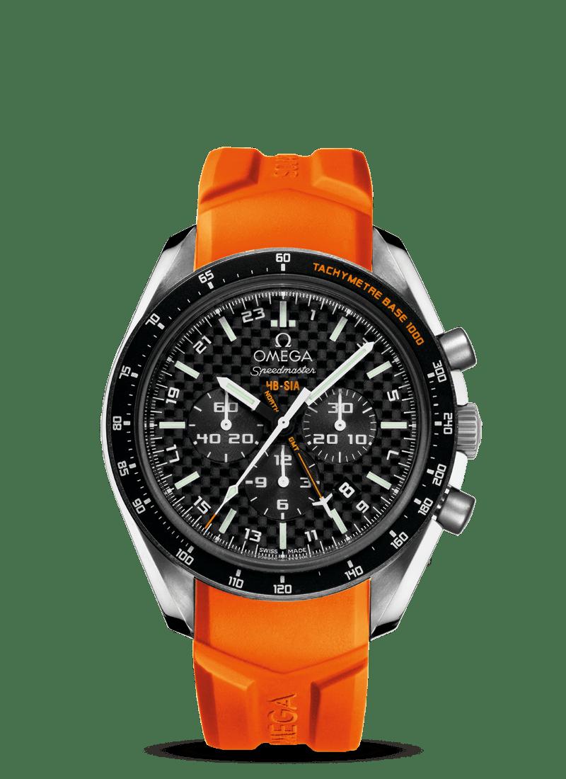 Speedmaster HB-SIA腕表 44.25毫米同轴GMT 编号版计时表 - SKU码 321.92.44.52.01.003 Watch presentation