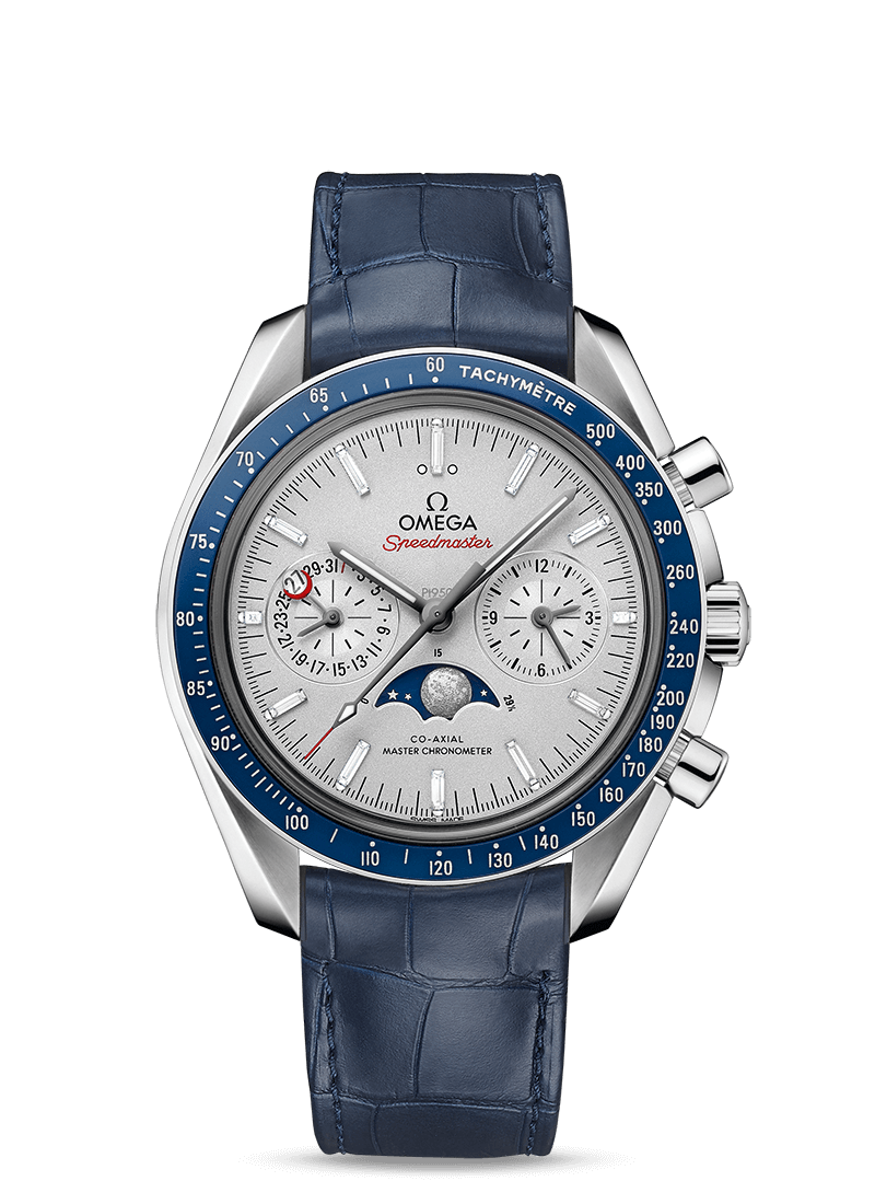 Speedmaster 月球表 欧米茄月相至臻天文台计时腕表44.25毫米 - SKU码 304.93.44.52.99.004 Watch presentation