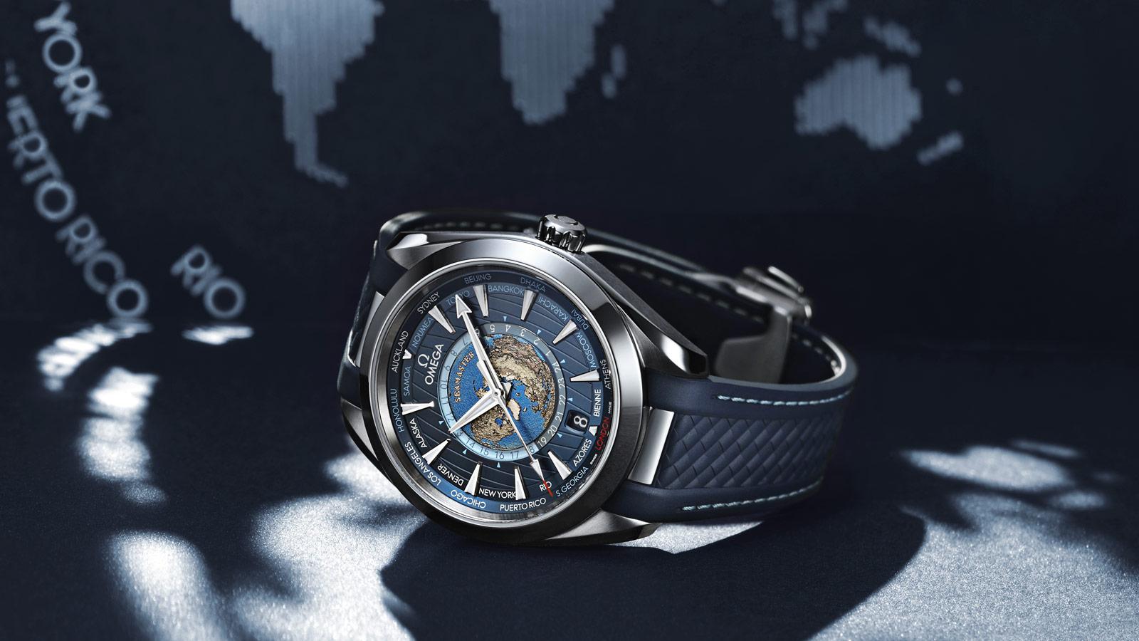 Seamaster 海马系列Aqua Terra 150米腕表 Aqua Terra 150米腕表 欧米茄同轴至臻天文台GMT世界时腕表43毫米 腕表 - 220.12.43.22.03.001