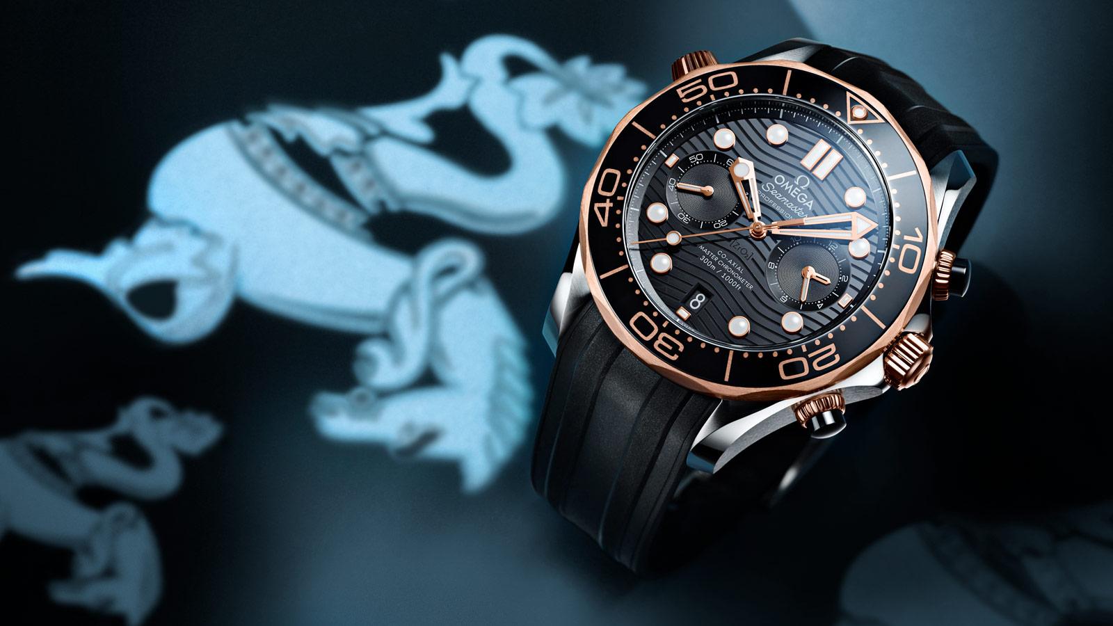 Seamaster 300米潜水表 300米潜水表 欧米茄同轴至臻天文台计时腕表44毫米 - 210.22.44.51.01.001 - 查看 1