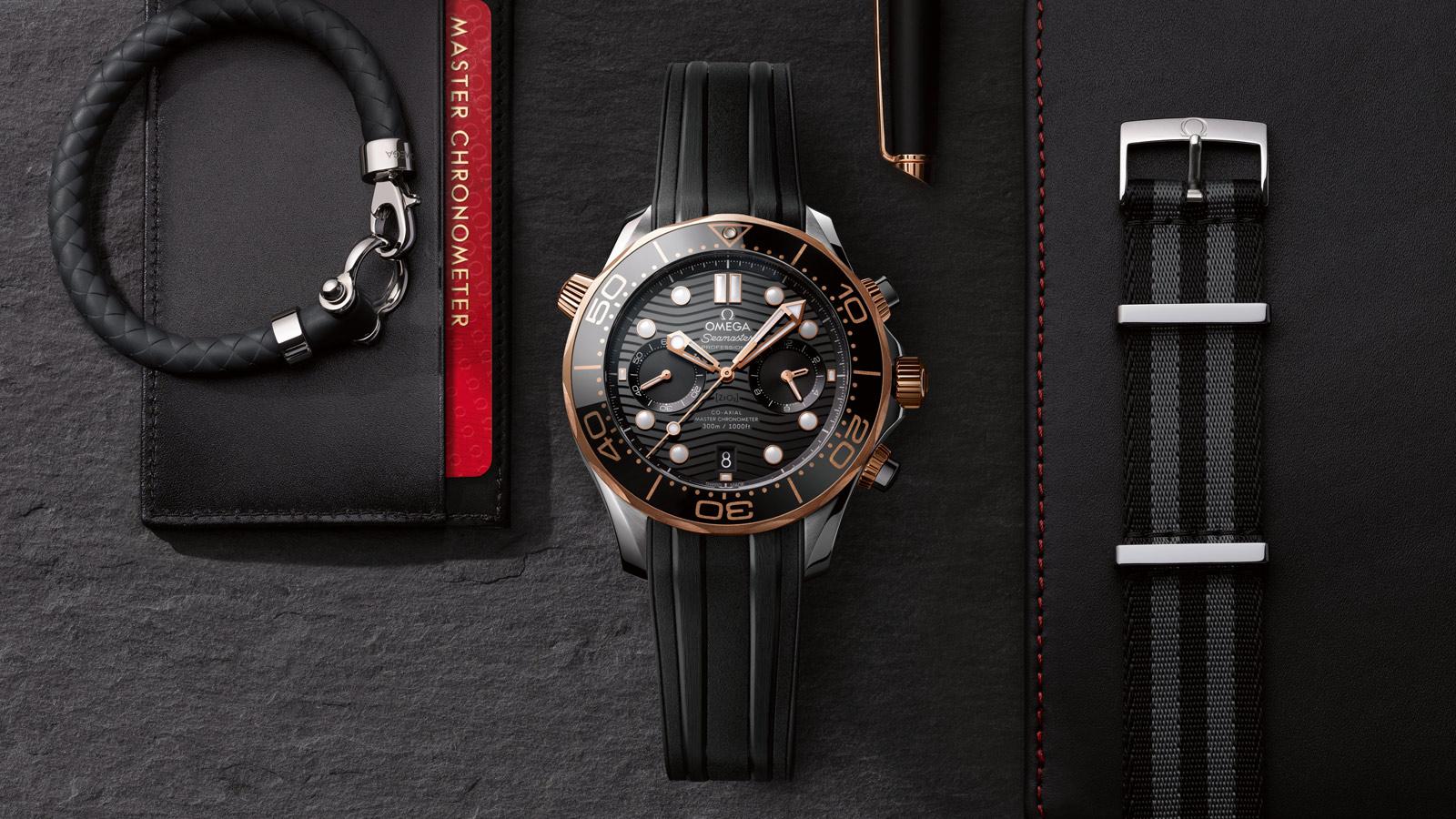 Seamaster 300米潜水表 300米潜水表 欧米茄同轴至臻天文台计时腕表44毫米 腕表 - 210.22.44.51.01.001