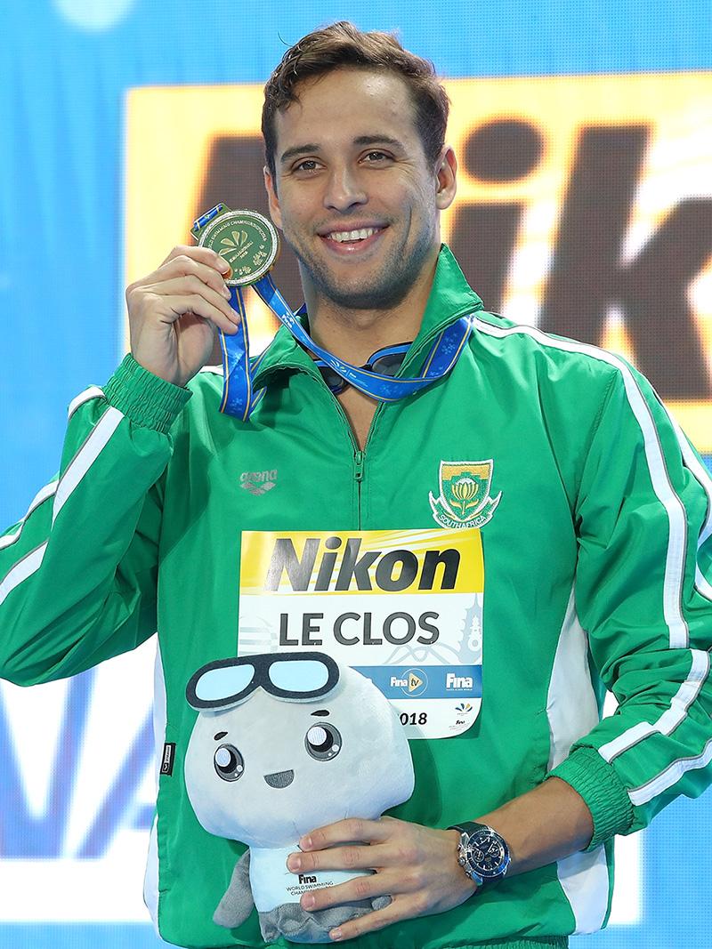 查德·勒·克洛斯在中国杭州获得世界游泳锦标赛冠军 image 59596
