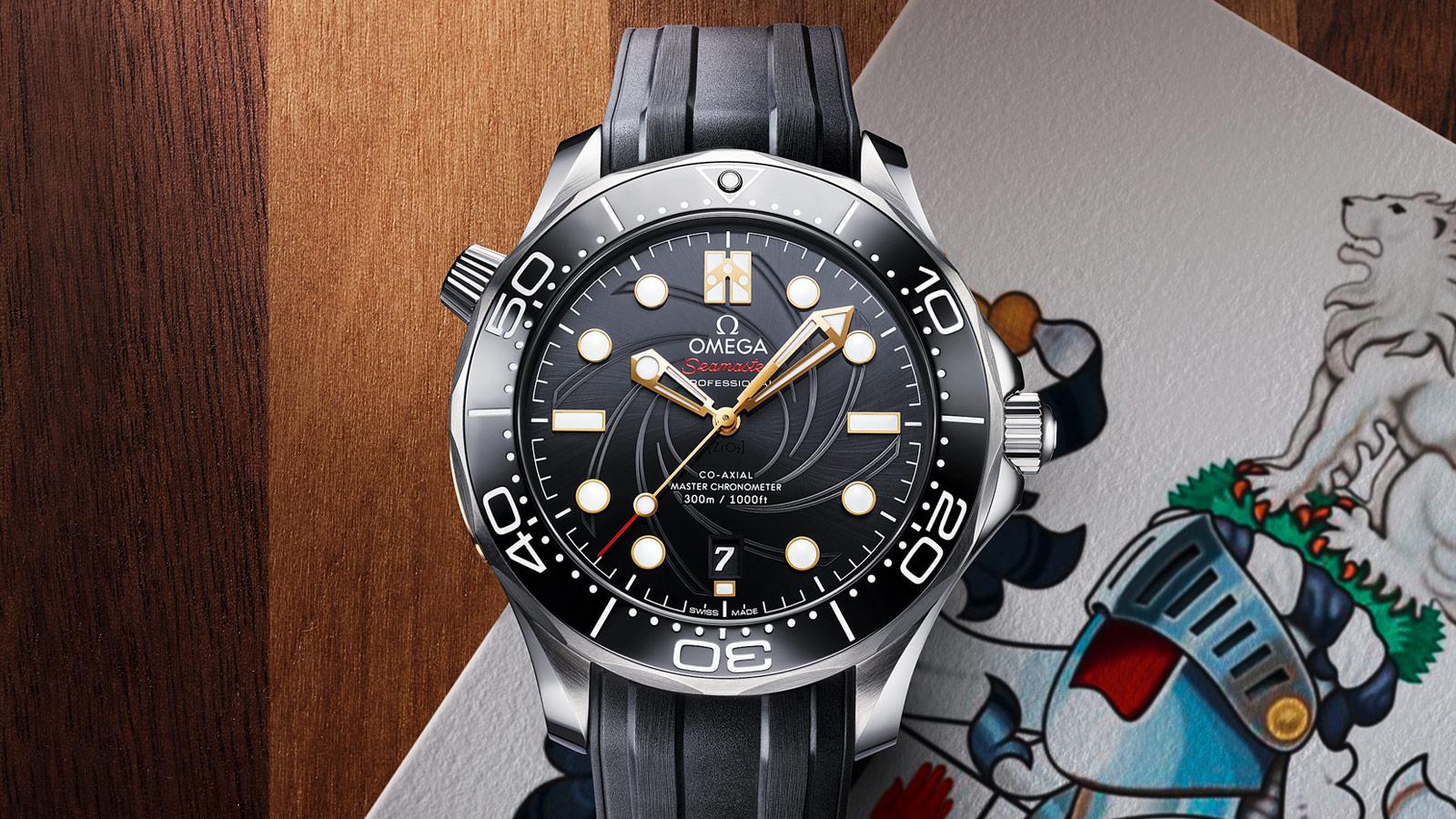 """""""詹姆斯·邦德""""限量版: Seamaster - 300米潜水表 - 单个 - 75609"""
