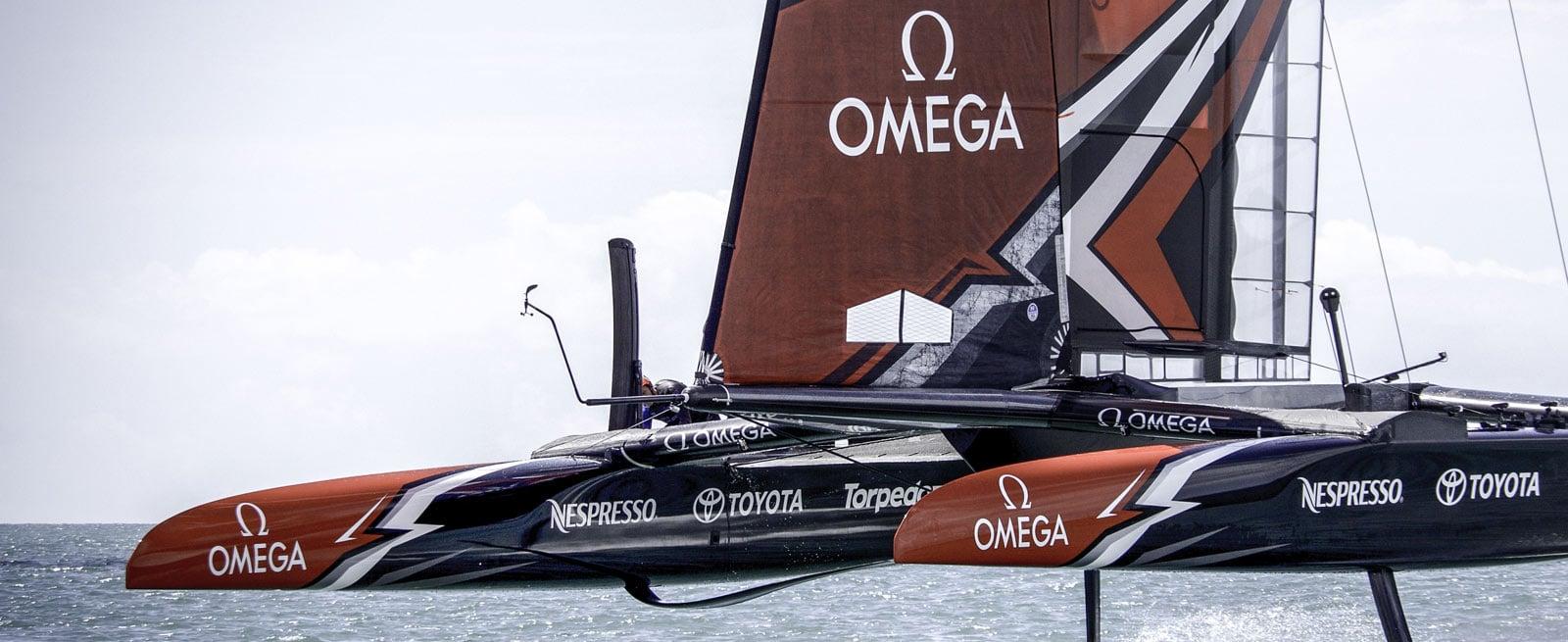 """欧米茄""""深海之黑""""新西兰酋长队腕表: Seamaster - 海洋宇宙600米腕表 - 帆船"""