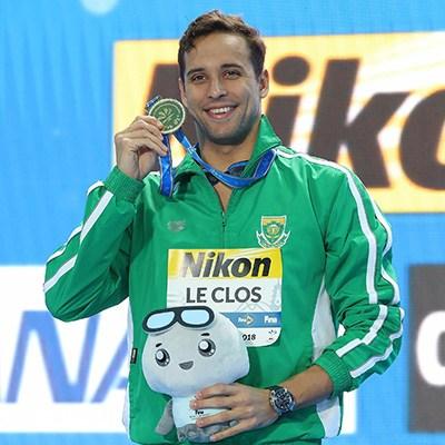 查德·勒·克洛斯在中国杭州获得世界游泳锦标赛冠军