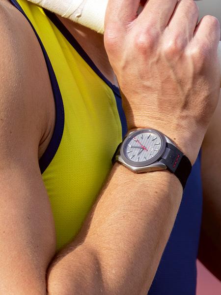 Watch Seamaster Aqua Terra Ultra Light on the wrist on Armand Duplantis